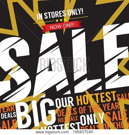 Big Sale Deal Banner Vector Illustration. EPS 10