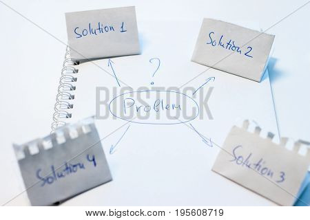 problem solving looking for solution plan on paper