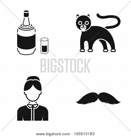 profession, alcohol and or  icon in black style. animal, barber icons in set collection.