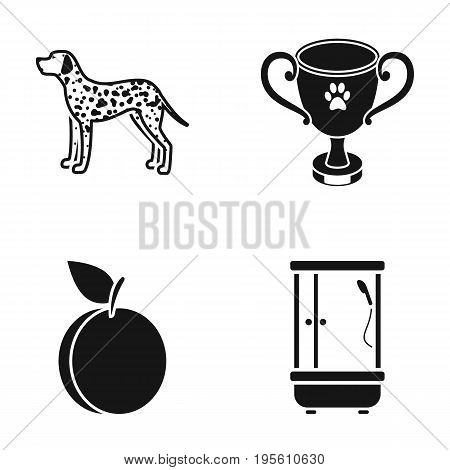 cooking, competition and or  icon in black style.breed, plumbing icons in set collection.