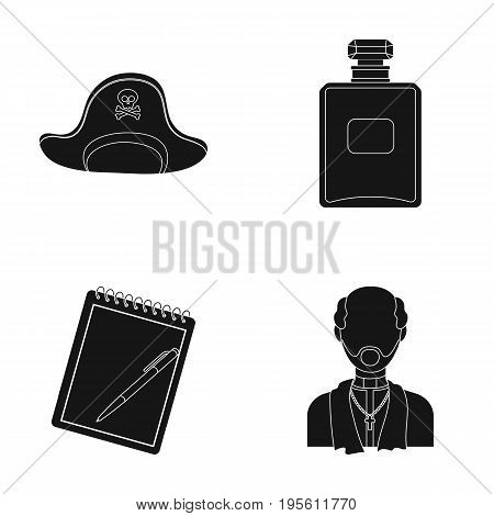 travel, training and or  icon in black style.cosmetics, religion icons in set collection.