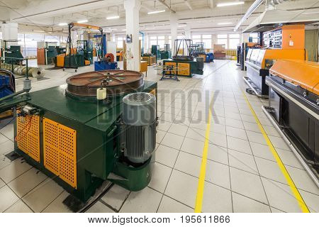 Industrial premise, wire drawing machine for metal wire.