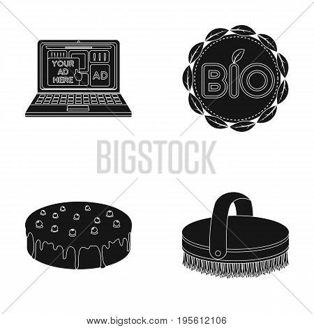 Technology, Cooking and or  icon in black style.Hippodrome, sign icons in set collection.