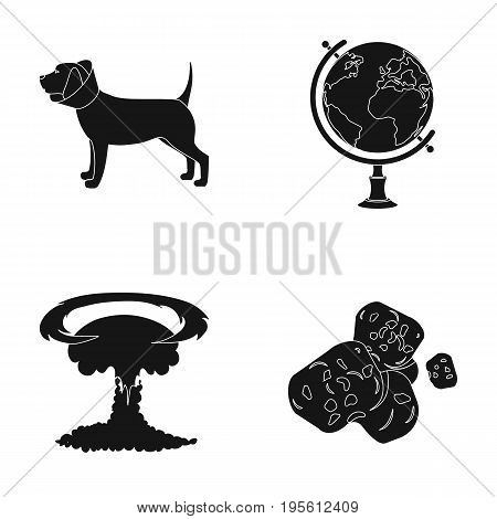 veterinary medicine and or  icon in black style.weapons, Space, training icons in set collection.