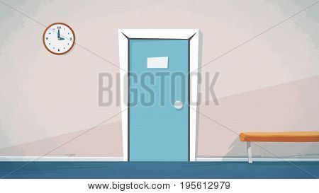 Home main door entrance Vector for cartoon, animation, advertise, campaings