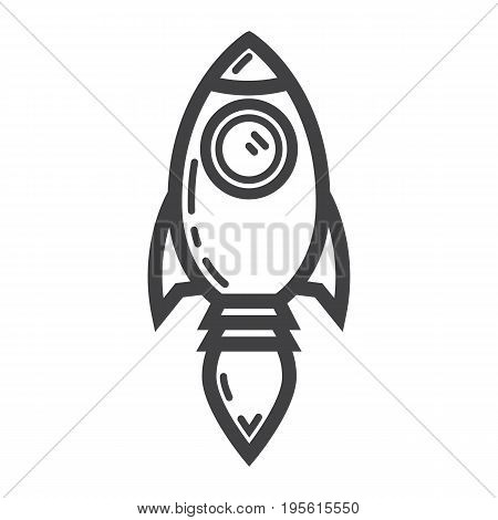 Start up line icon, business and rocket, vector graphics, a linear pattern on a white background, eps 10.