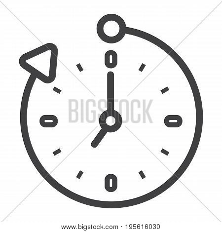 Overtime line icon, business and clock, vector graphics, a linear pattern on a white background, eps 10.