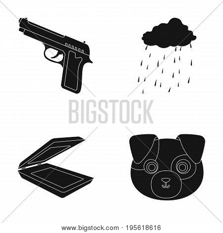 army, technology and or  icon in black style.rain , Animal icons in set collection.