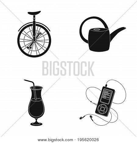 circus, Alcohol and other  icon in black style.inventory, technology icons in set collection.