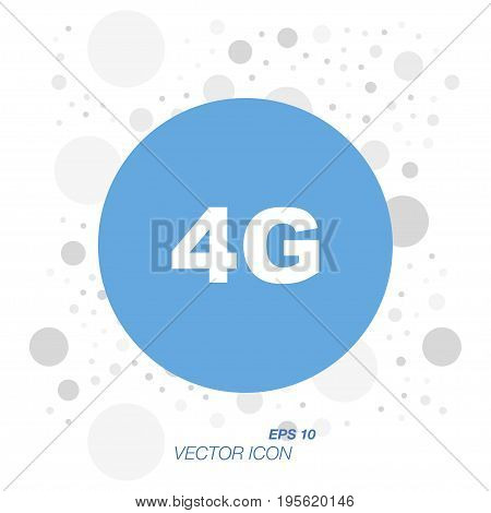 4G Icon in flat style isolated on white background. Symbol for your design and logo. Vector illustration EPS 10.