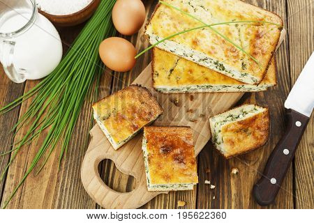 Pie With Spring Onion