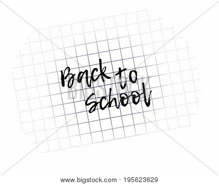 Blurred exercise book. Design template Back to School. Vector Illustration.