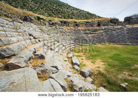 Amphitheater In Demre Not Far From Kemer
