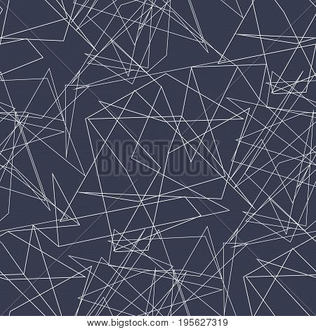 Abstract geometric pattern with irregular lines, stripes, polygonal style . Vector illustration with zigzag lines and stripes Seamless repeating background for printing on fabric, textiles, wallpaper