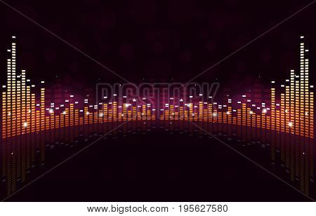 Equalizer Wide Music Background