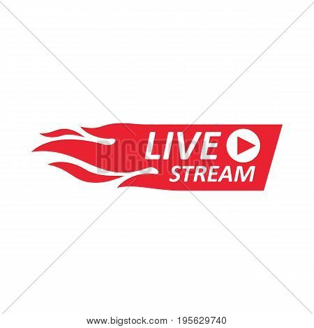 Live Stream Sign, Emblem, Logo.