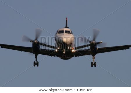 Small Turboprop Airliner Landing