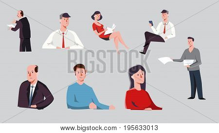 Human characters perfect for animation, cartoon lifestyle Vector illustration