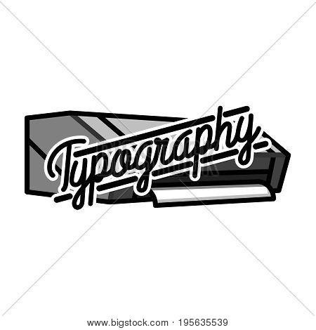 Color vintage typography emblem. Vector illustration, EPS 10
