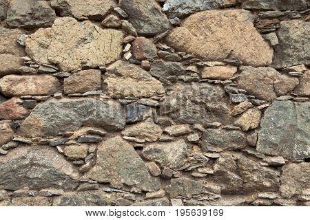 Old stone masonry. Background texture.