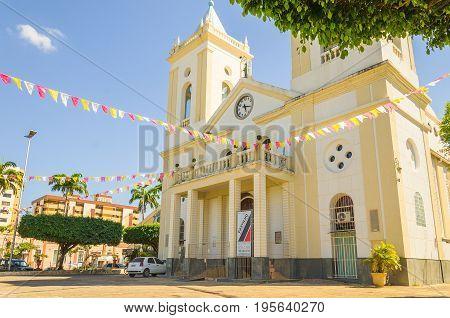 View Of Cathedral Catedral Metropolitana Sagrado Coracao De Jesus In Porto Velho City