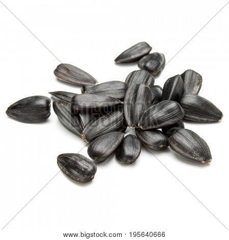 Sunflower seeds  isolated on white background close up
