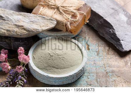 Nature Cosmetics, Handmade Preparation With Essential Oils And Ancient Minerals Of Creams, Soaps, Sk