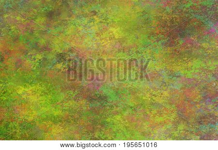 Greenish Dominant background  3d Rendering