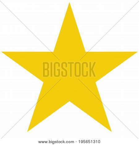 star vector icon on white background. flat rank. yellow favorite symbol.