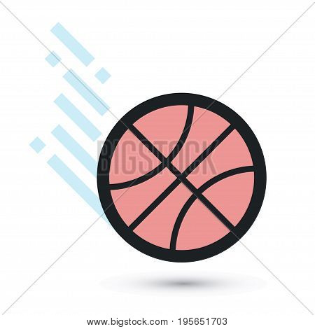 Sports ball flying icon. Vector illustration EPS8