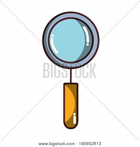 magnifying glass tool to explore vector illustration