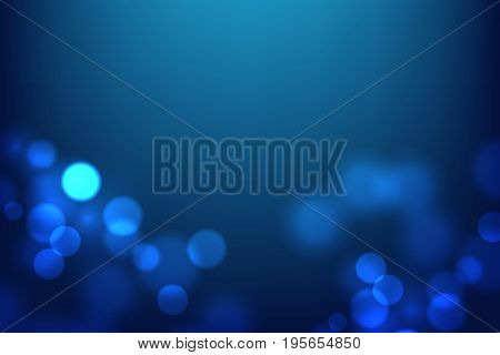Abstract blurred magic lights background. Luminous dots on dark backdrop. Element for your celebration design. Vector eps 10