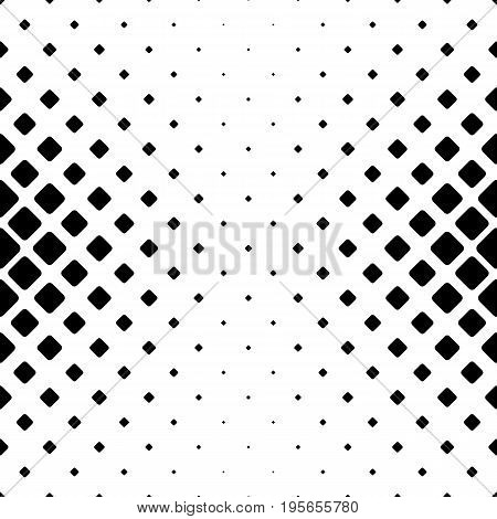 Monochromatic abstract square pattern background - black and white geometric vector illustration from diagonal rounded squares