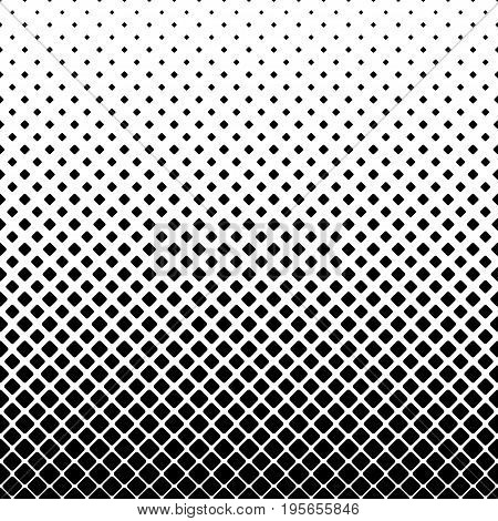 Monochrome square pattern background - black and white geometric vector illustration from diagonal rounded squares
