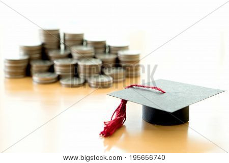 Saving every coins for education, study, graduation