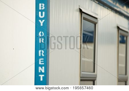 Buy or rent white mobile office container for remote locations