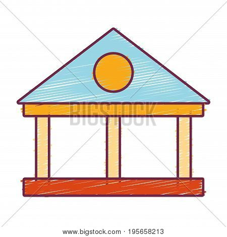 bank with financial cash money economy vector illustration