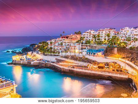 Puerto de Santiago city Atlantic Ocean coast Tenerife Canary island Spain