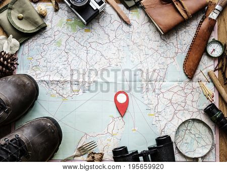 Trip planning on a map and others stuff