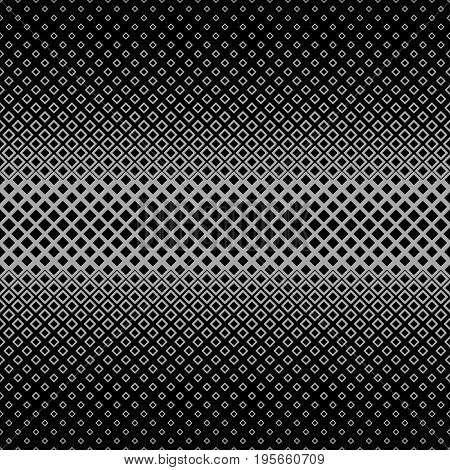 Dark symmetrical abstract halftone square pattern background - vector graphic from squares in varying sizes