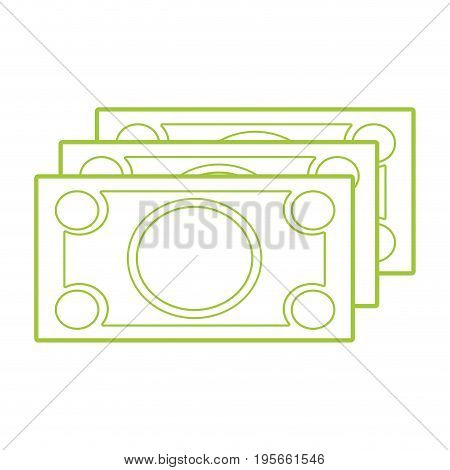 silhouette bills cash money to economy business vector illustration