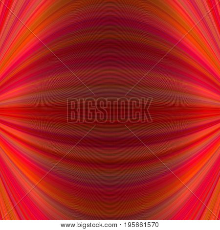 Red abstract symmetrical dynamic background from thin curved lines - vector graphic design