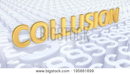 Collusion Law Concept 3D Illustration