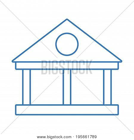 silhouette bank with financial cash money economy vector illustration