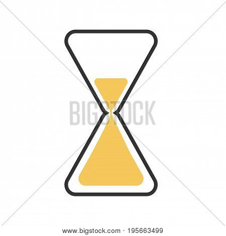 Sand clock flat icon. Isolated vector on white background.