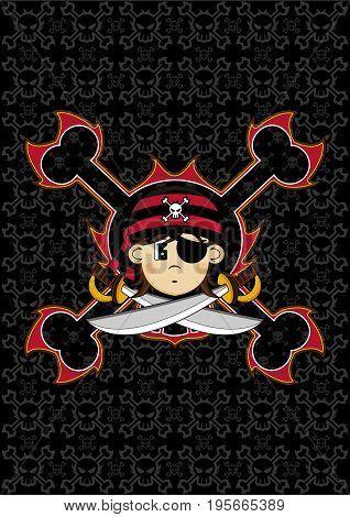 Bandana Pirate With Skulls.eps