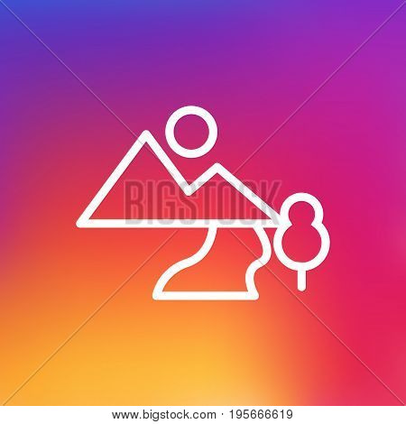 Isolated Air Outline Symbol On Clean Background. Vector Landscape Element In Trendy Style.