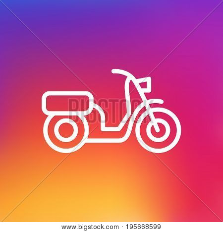 Isolated Scooter Outline Symbol On Clean Background. Vector Moped Element In Trendy Style.
