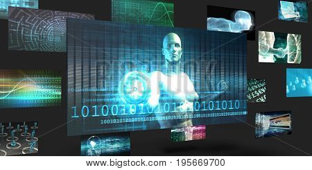 Data Mining Sales and Marketing Abstract Concept 3D Illustration Render