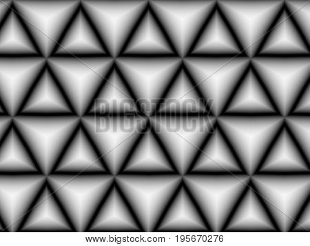 Abstract modern geometric gray gradient triangle background